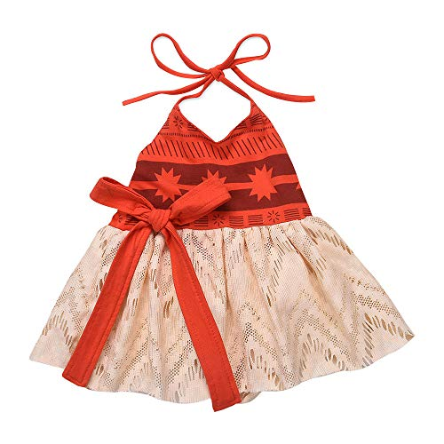 Amphia - Mädchen Kinder Kostüm Kleid Karneval Party Hochzeit Tutu Kleid - Baby Cartoon Sleeveless Sling Prinzessin Net Rock ()