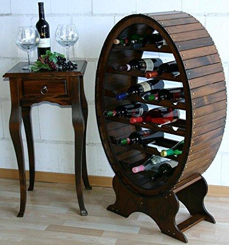 Massivholz Weinregal Flaschenregal Weinfass 26 Flaschen Holz Fichte massiv kolonial