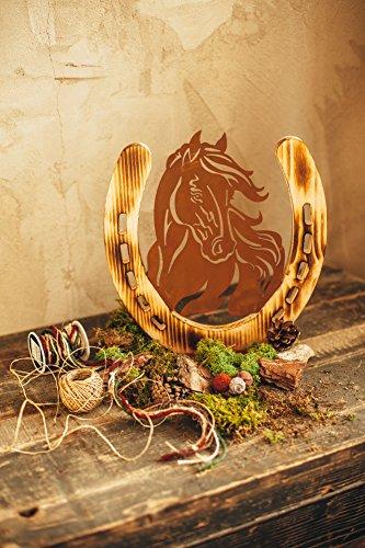... Pferd Pony Pferdeportrait Holzpferd Rostpferd Holz Rost Edelrost Metall Deko  Dekoration Geschenk Vorgarten Vorgarten Deko ...