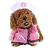 Delaman Hundebekleidung Hund Kostüm Kleidung Krankenschwester Cosplay Thema Party für Tiere Katze Hund ( Size : S )