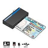 Lesegerät für Personalausweis, USB C Chipkartenleser, Kompatibel Windows 10/8/7 und Mac OS X - Build in SDHC/SDXC/SD Kartenleser, Micro SD Kartenleser und Lesegerät personalausweis