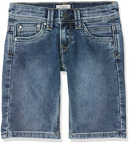 Pepe jeans tracker short pantaloncini da bagno, blu (light used denim mk0), 8 anni (taglia produttore: 8) bambino