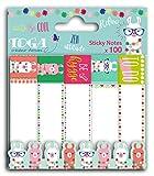 Toga STR202 Lama 100 Notes Repositionnables Papier Multicolore 7,5 x 1,9 x 0,5 cm
