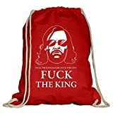 Shirtdepartment Game of Thrones - Turnbeutel - Fuck the King - von SHIRT DEPARTMENT, rot-weiss