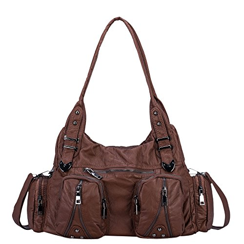 37f4613e8e Classic Shoulder Bag Purse Soft Washed Leather Hobo Handbag Crossbody Bag  for Women