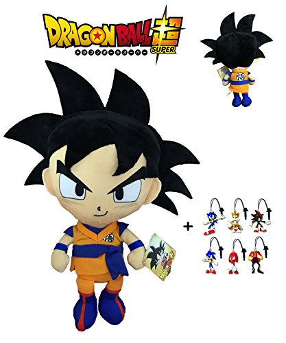 PELUCHE GOKU DRAGON BALL SUPER 30 CM + LLAVERO SONIC