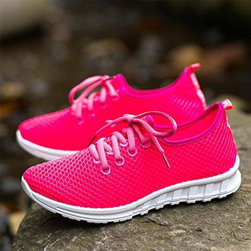 SGoodshoes Hommes Mesh Respirante Imperméable Séchage Rapide Aqua Eau Chaussures Rose