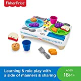 Fisher-Price FBM90 Say Please Snack Set, Laugh and Learn Toddler Kitchen and food Role Play Toy, Suitable for 18 Months Plus