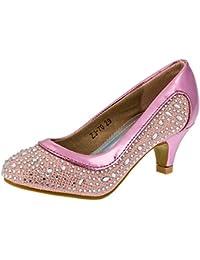 Mikelo Shoes - Zapatos de vestir de Material Sintético para niña