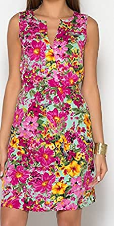 Damen Kleid Sommerkleid Größe 36 38 40 42 44 Umstandskleid ...