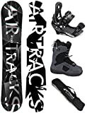 AIRTRACKS SNOWBOARD SET - WIDE BOARD REFRACTIONS GAME 165 - SOFTBINDUNG SAVAGE - SOFTBOOTS SAVAGE QL 45 - SB BAG