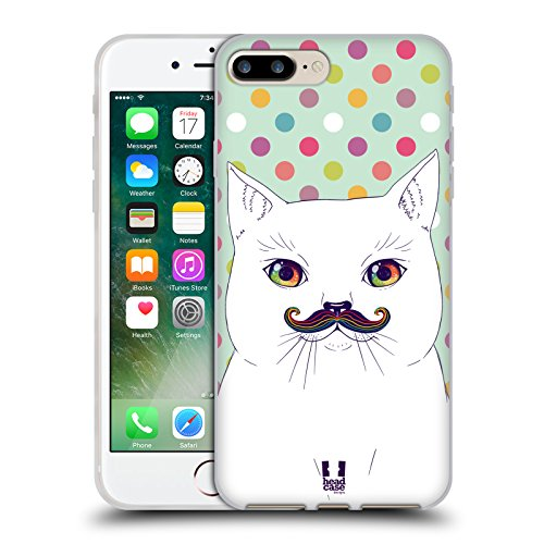 Head Case Designs Daisy Fiori Romantici Cover Morbida In Gel Per Apple iPhone 7 Plus / 8 Plus Gatto