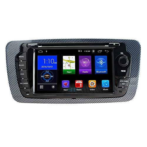 henhaoro 17,8 cm (7 Zoll) Android 8.1 Auto DVD Stereo Touchscreen für Seat Ibiza GPS Navigation Touchscreen Radio Receiver 2 DIN HeadUnit in Armaturenbrett Navigationsgerät 2009-2014