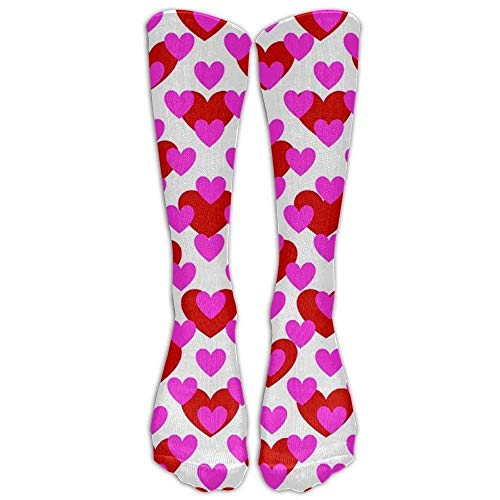 Yuerb Hohe Socken Casual Heart Love Valentine Day -