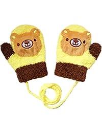 Moolecole 1 Paire D'hiver Bébés Garçons Et Cartoon Bébés Filles Gants Molleton Gants Unisexe Enfants