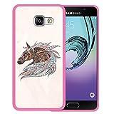 Samsung Galaxy A3 2016 Hülle, WoowCase Handyhülle Silikon für [ Samsung Galaxy A3 2016 ] Ethnisches Pferd Handytasche Handy Cover Case Schutzhülle Flexible TPU - Rosa