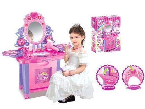 Spielzeug-Schminktisch für Kinder – Viel Zubehör enthalten - 2
