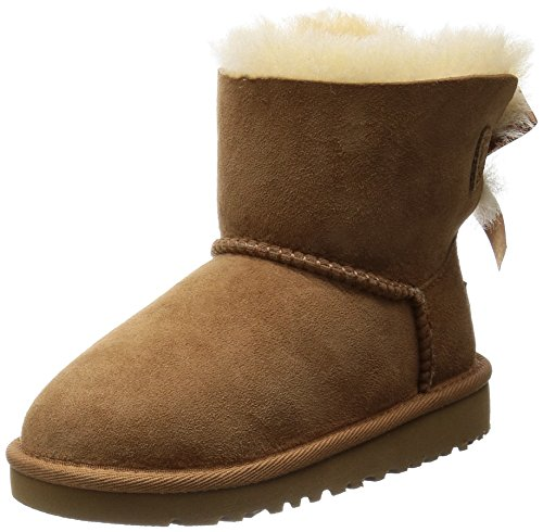UGG Mini Bailey Bow, Chaussures de Football Mixte Bébé Marron (Chestnut)