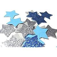 Confettis Etoile Pailleté Argent et Bleu - décoration table noël fête mariage (fait à la main)