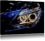Dark BMW Angels, Bild auf Leinwand, XXL riesige Bilder fertig gerahmt mit Keilrahmen, Kunstdruck auf Wandbild mit Rahmen, günstiger als Gemälde oder Ölbild, kein Poster oder Plakat, Format:120x80 cm