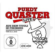 Puhdy Quaster live aus dem Tivoli in Freiberg. 2CD + DVD: Quaster Puhdys Konzertmitschnitt vom 18.11.16