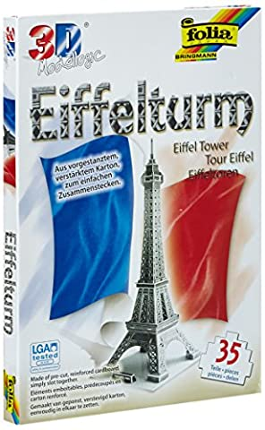 Folia 34002 - 3D-Modellogic, 35 Teile, Eiffelturm - Paris