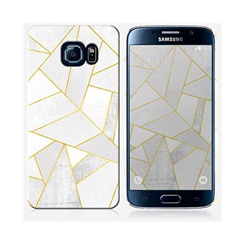 Coque iPhone 5 et 5S de chez Skinkin - Design original : White stone with gold lines par Elisabeth Fredriksson Coque Samsung Galaxy S6