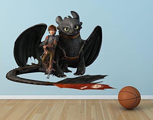 Preisvergleich Produktbild Wandtattoo Dragons Hicks und Ohnezahn machen Pause B x H: 56cm x 40cm von Klebefieber®
