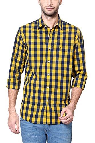 Allen Solly Men's Comfort Fit Shirt_ Amsf515g05452_38_ Yellow