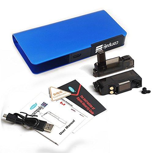 Elektronische Zigarette Starter Kit SIGELEI Compak A1 Vape Eingebaute 1100mAh Batterie, keine E-Flüssigkeit, kein Nikotin (blau) - Sigelei Zigarette Elektronische