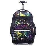 LRLANI Junior High School Student Trolley Cabin Boarding Bag Reisetasche auf Rädern mit großem Fassungsvermögen Geeignet für Mädchen, Jungen und Rollbeutel-E