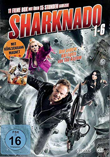 Sharknado 1-6 DVD Box - Die Kult Hai Film Collection