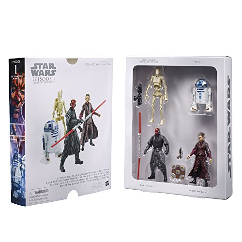 Star Wars 4 teiliges Figuren Set - Episode I - Digital Release Collection - bewegliche Star Wars Figuren