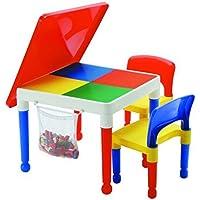 Preisvergleich für LibertyHouseToys Mehrzweck-Aktivität Tisch und 2Stühle mit Aufbewahrungstasche, Multi, 51x 51x 43cm