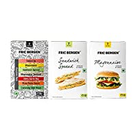 Fric Bergen Sandwich Spread Sauces, Mayonnaise Dip/Sauces & Assorted Sauce - Combo (Pack of 3)
