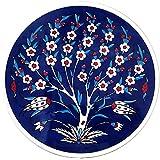 Turkceramics Hand-Crafted Turkish Trivets Round Ceramic Coaster (16 Cm X 16 Cm X 1 Cm, OMRC16C-MIX7)