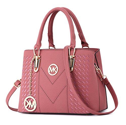 Alidear Pu Cool Damen Handtaschen, Hobo-Bags, Schultertaschen, Beutel, Beuteltaschen, Trend-Bags, Velours, Veloursleder, Wildleder, Tasche Pink