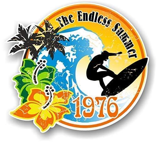 Distressd Retro Jahr Vom Endless Summer 1976 Surfer Surf Außen- Vinyl Auto Bus Aufkleber 100x90mm