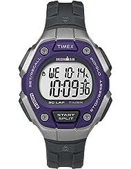 Timex Ironman 30 Lap - Unisex - TW5K89500 - Quartz - Digital - Eclairage/Alarme/Chronographe - LCD - Résine - Gris (Dark grey)