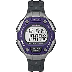 Timex Unisex TW5K89500 Quartz Watch with LCD Dial Digital Display and Dark Grey Resin Strap