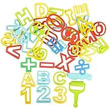 BOHS Paquete de 42 Piezas - Moldes de Alfabeto y números para Arcilla, Pasta y