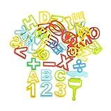 BOHS Confezione da 42 Pezzi - Stampi alfabetici e numerici per Argilla, Pasta e Sabbia - con Kit di Strumenti per la modellazione di estrusori per Bambini - Impara in Giocattoli da Gioco