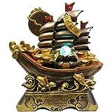 ZZKJXHJ Fontana per Interni/Ornamenti di Acqua Corrente/Soggiorno Decorazione per L'Ufficio/Resina Caratteristiche dell'Acqua (Regali),A