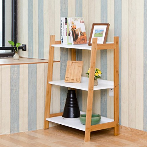 SADWF Kreative Wandregale Bücherregale Regale Lagerung Dekorative Rahmen Ecke DREI-Tier-Rahmen, 60 * 37 * 84 cm, Log -