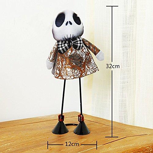 SunBai Kindergarten Halloween Dekoration Hexe Skelett Puppe Make-up sammeln Kürbis Desktop in der Szene, Requisiten Skelett gekleidete Puppe (Puppe Make-up Halloween)