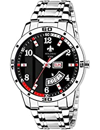 Houston York Day And Date Black Dial With Red Touch Watch-for Men (HYD-003)