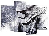 Star Wars Stormtrooper Kunstwerk aus vier geteilten Leinwanddrucken, 81,3x 55,9cm