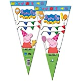 Peppa Pig - Bolsa cono 20x40 cm, pack 100 unidades (Verbetena 016000713)