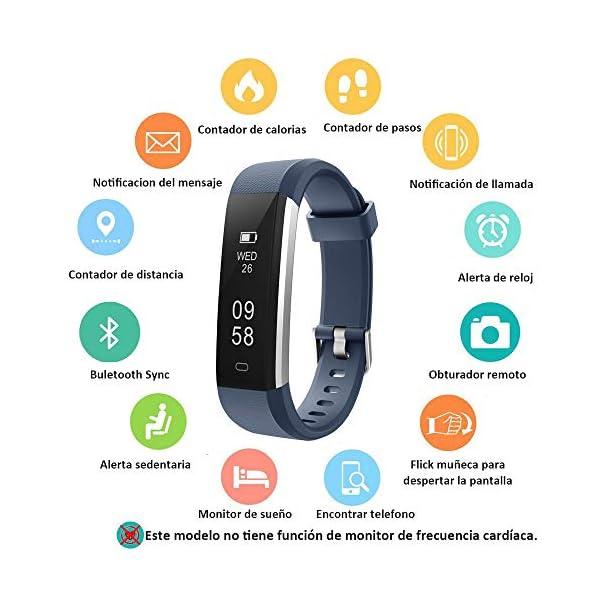 COOLEAD Pulsera Actividad Mujer Hombre Reloj Inteligente Podómetro Monitor