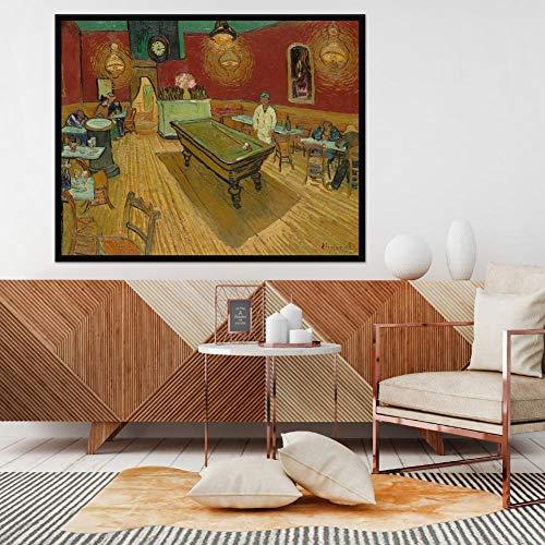 Leinwanddruck Van Gogh Berühmte Ölgemälde Der Nacht Kaffee An OrtUndStelleIn Arles Replik Leinwand Wandbilder Für Zimmer 50Cmx70Cm -